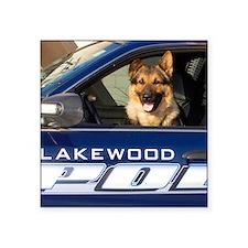 "Lakewood Police K9 Square Sticker 3"" x 3"""