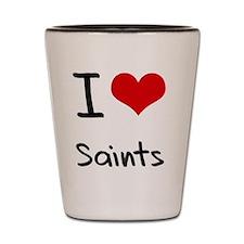 I Love Saints Shot Glass