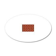 Dog Paws Clemson Orange 20x12 Oval Wall Decal