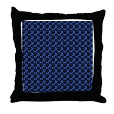 Dog Paws Royal Blue Puppy Throw Pillow