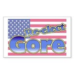 Re-elect Gore Rectangle Sticker