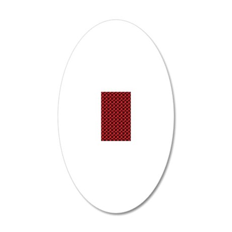 Dog Paws Red 20x12 Oval Wall Decal