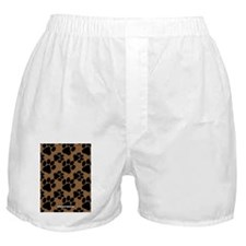 Dog Paws Brown Boxer Shorts