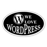 We love wordpress (Oval)