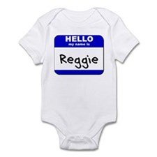 hello my name is reggie  Infant Bodysuit