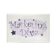 """Marketing Diva"" [purple] Rectangle Magnet"