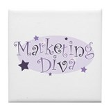 """Marketing Diva"" [purple] Tile Coaster"
