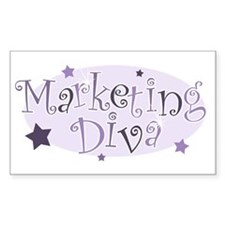 """Marketing Diva"" [purple] Rectangle Decal"