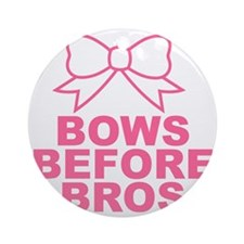 bows before bros Round Ornament