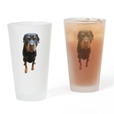 Funny Rottweiler Drinking Glass
