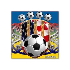 """SoccerPower_USA_mpad Square Sticker 3"""" x 3"""""""