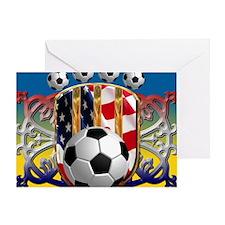 SoccerPower_USA_mpad Greeting Card