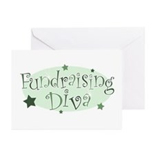 """Fundraising Diva"" [green] Greeting Cards (Package"