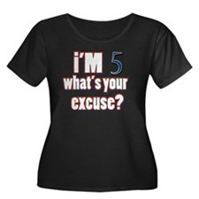 Im 5 wha Women's Plus Size Dark Scoop Neck T-Shirt