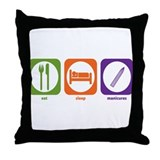 Eat Sleep Manicures Throw Pillow