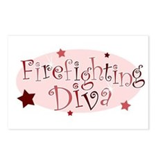 """Firefighting Diva"" [red] Postcards (Package of 8)"