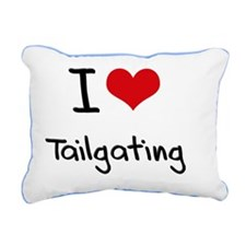 I Love Tailgating Rectangular Canvas Pillow
