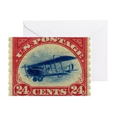 Curtiss Jenny 1918 24c US stamp Greeting Card