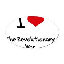 I Love The Revolutionary War Oval Car Magnet