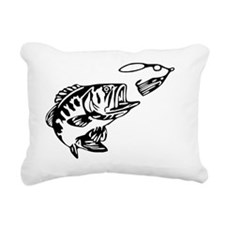 Gone Fishin Rectangular Canvas Pillow