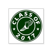 "Class Of 2017 Track Square Sticker 3"" x 3"""