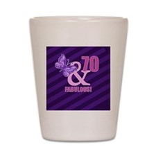 70th Birthday Butterfly Shot Glass