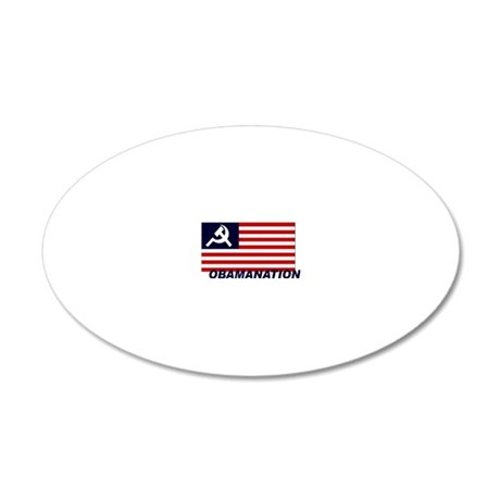 Obamanation 20x12 Oval Wall Decal