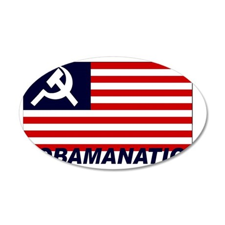 Obamanation 35x21 Oval Wall Decal