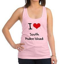 I Love SOUTH PADRE ISLAND Racerback Tank Top