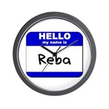 hello my name is reba  Wall Clock