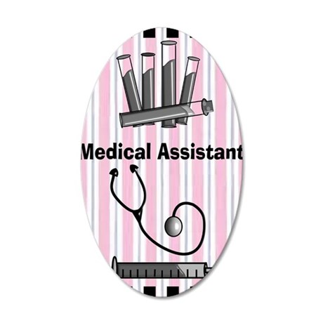 medical assistant blank 1 35x21 Oval Wall Decal