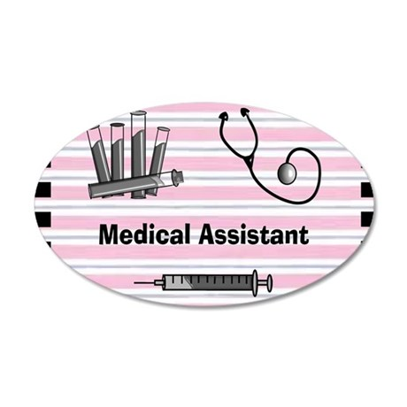 medical assistant blank 2 35x21 Oval Wall Decal