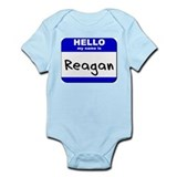 hello my name is reagan  Infant Bodysuit