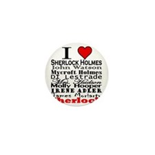 I Heart Sherlock Mini Button