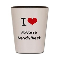 I Love NAVARRE BEACH WEST Shot Glass