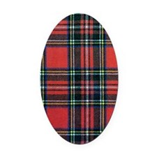 Royal Stewart Tartan Oval Car Magnet