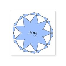 "Joy Blue Star Square Sticker 3"" x 3"""