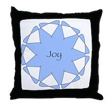 Joy Blue Star Throw Pillow