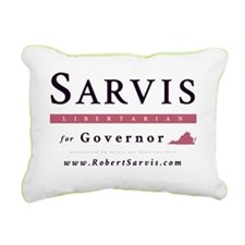 Sarvis for Governor Logo Rectangular Canvas Pillow