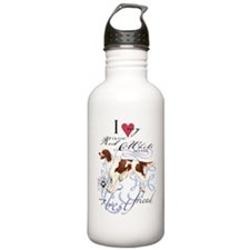 red-white-key2 Water Bottle