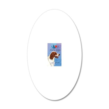 red-white-kindle 20x12 Oval Wall Decal