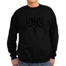 Satanic Goat Head with Pentagram Sweatshirt