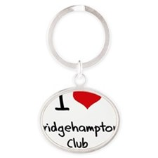 I Love BRIDGEHAMPTON CLUB Oval Keychain