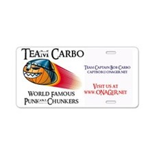 Team carbo Business card Aluminum License Plate