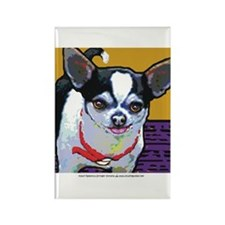 Black & White Chihuahua Rectangle Magnet (10 pack)