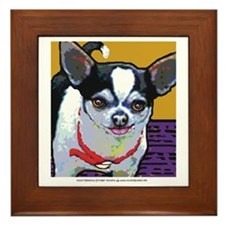 Black & White Chihuahua Framed Tile