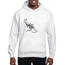 kangaroo trex deer funny tyranno Hoodie Sweatshirt