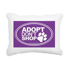 Adopt Dont Shop Purple Rectangular Canvas Pillow
