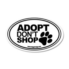 Adopt Dont Shop White-01 Wall Decal