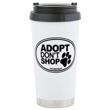 Adopt Dont Shop White-0 Travel Mug